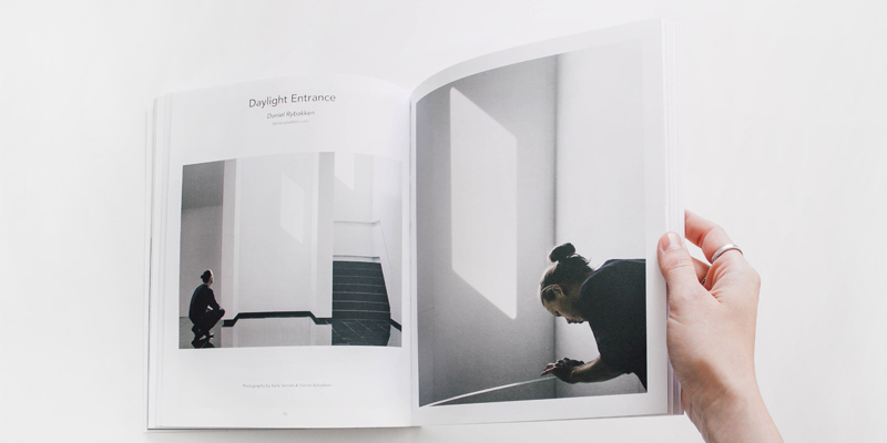 An opened contemporary art book