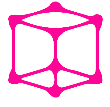 Creative Pink cube icon PNG